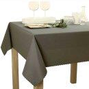 Tischdecke Abwaschbares Tischtuch Schmutzabweisend Tischdeko 140x180cm Graphit