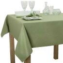Tischdecke Abwaschbares Tischtuch Schmutzabweisend Tischdeko 140x200cm Olivgrün