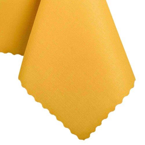 Tischdecke Abwaschbares Tischtuch Schmutzabweisend Wasserabweisend 140x240 Gelb