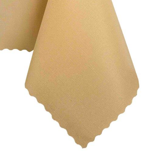 Tischdecke Abwaschbares Tischtuch Schmutzabweisend Tischdeko 150x300cm Pfirsich