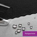 Tischdecke Abwaschbares Tischtuch Schmutzabweisend Tischdeko 150x300cm Schwarz