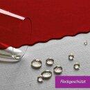Tischdecke Abwaschbares Tischtuch Schmutzabweisend Wasserabweisend 160x220cm Rot