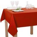 Tischdecke Abwaschbares Tischtuch Schmutzabweisend Tischdeko 140cm Terracotta
