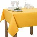 Tischdecke Abwaschbares Tischtuch Schmutzabweisend Wasserabweisend 140cm Gelb