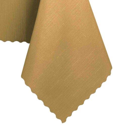 Tischdecke Abwaschbares Tischtuch Schmutzabweisend Wasserabweisend 140cm Gold