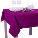 Tischdecke Abwaschbares Tischtuch Schmutzabweisend Tischdeko 140cm Lila Violett