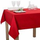 Tischdecke Abwaschbares Tischtuch Schmutzabweisend Wasserabweisend 140cm Rot