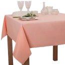 Tischdecke Abwaschbares Tischtuch Schmutzabweisend Tischdeko 160cm Lachs Rosa