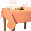 Tischdecke Abwaschbares Tischtuch Schmutzabweisend Wasserabweisend 160cm Orange
