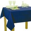 Tischdecke Abwaschbares Tischtuch Schmutzabweisend Tischdeko 160cm Dunkelblau