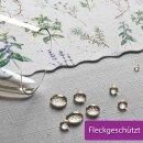 Tischdecke Abwaschbares Tischtuch Leinenoptik Schmutzabweisend 130x160cm Weiß