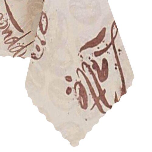 Tischdecke Abwaschbares Tischtuch Leinenoptik Schmutzabweisend 130x170cm Braun