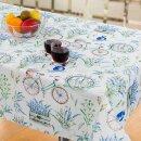 Tischdecke Abwaschbares Tischtuch Leinenoptik Schmutzabweisend 140x200cm Blau