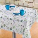 Tischdecke Abwaschbares Tischtuch Leinenoptik Schmutzabweisend 140x200cm Weiß