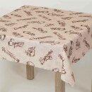 Tischdecke Abwaschbares Tischtuch Leinenoptik Schmutzabweisend 140x200cm Braun