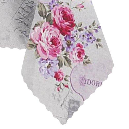 Tischdecke Abwaschbares Tischtuch Leinenoptik Schmutzabweisend 140x220cm Rosa