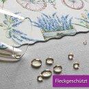 Tischdecke Abwaschbares Tischtuch Leinenoptik Schmutzabweisend 160x220cm Blau