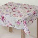 Tischdecke Abwaschbares Tischtuch Leinenoptik Schmutzabweisend 160x220cm Rosa