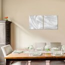 Material 50x50cm 2 Glasbilder Glasbild Echtglas Wandbild Deko