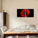 Mohnblume 50x50cm 2 Glasbilder Glasbild Echtglas Wandbild Deko