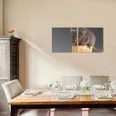 Maus 50x50cm 2 Glasbilder Glasbild Echtglas Wandbild Deko