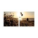 Sonnenuntergang 50x50cm 2 Glasbilder Glasbild Echtglas...