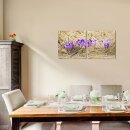 Schneeglöckchen 50x50cm 2 Glasbilder Glasbild Echtglas Wandbild Deko