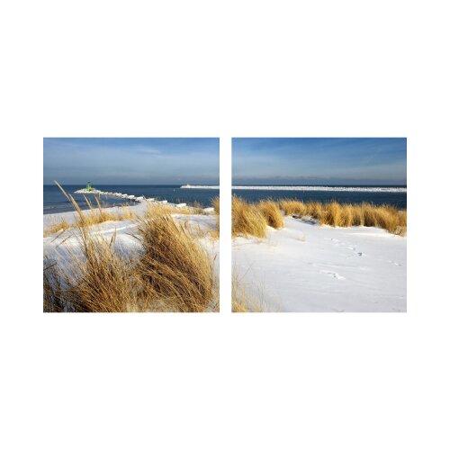 Sand 50x50cm 2 Glasbilder Glasbild Echtglas Wandbild Deko