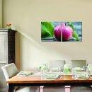 Apfel 50x50cm 2 Glasbilder Glasbild Echtglas Wandbild Deko