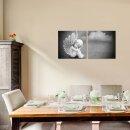 Engel 50x50cm 2 Glasbilder Glasbild Echtglas Wandbild Deko