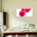Himbeere 50x50cm 2 Glasbilder Glasbild Echtglas Wandbild Deko