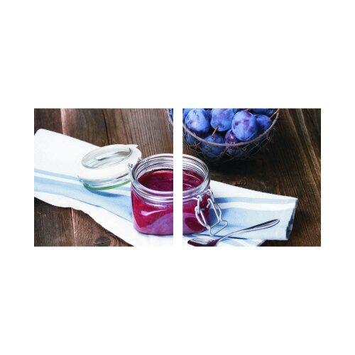 Marmelade 50x50cm 2 Glasbilder Glasbild Echtglas Wandbild Deko