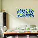 Blaubeeren 50x50cm 2 Glasbilder Glasbild Echtglas Wandbild Deko