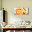 Bananen 50x50cm 2 Glasbilder Glasbild Echtglas Wandbild Deko