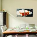 Essen 50x50cm 2 Glasbilder Glasbild Echtglas Wandbild Deko