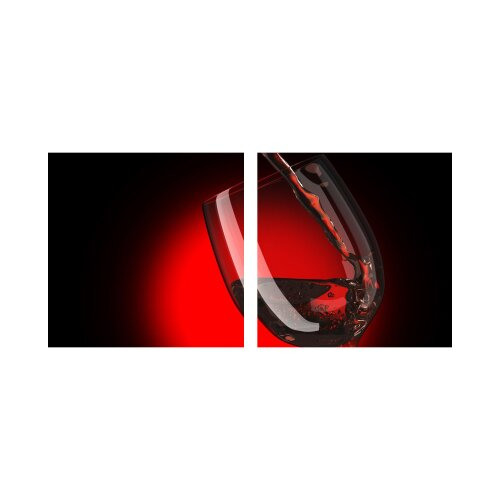 GWald 50x50cm 2 Glasbilder Glasbild Echtglas Wandbild Deko