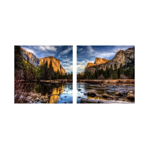 See 50x50cm 2 Glasbilder Glasbild Echtglas Wandbild Deko