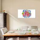Himbeeren 50x50cm 2 Glasbilder Glasbild Echtglas Wandbild Deko