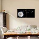 Pusteblume 50x50cm 2 Glasbilder Glasbild Echtglas Wandbild Deko