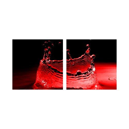 Wasser 50x50cm 2 Glasbilder Glasbild Echtglas Wandbild Deko
