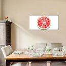 Wassermelone 50x50cm 2 Glasbilder Glasbild Echtglas Wandbild Deko