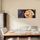 Pfankuchen 50x50cm 2 Glasbilder Glasbild Echtglas Wandbild Deko