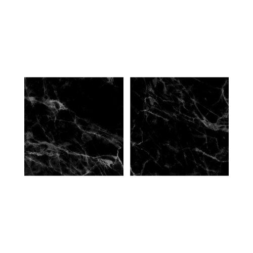 Marmor 50x50cm 2 Glasbilder Glasbild Echtglas Wandbild Deko