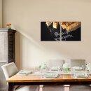 Brot 50x50cm 2 Glasbilder Glasbild Echtglas Wandbild Deko