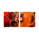 Abstrakt 50x50cm 2 Glasbilder Glasbild Echtglas Wandbild...