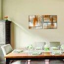 Abstrakt 50x50cm 2 Glasbilder Glasbild Echtglas Wandbild Deko