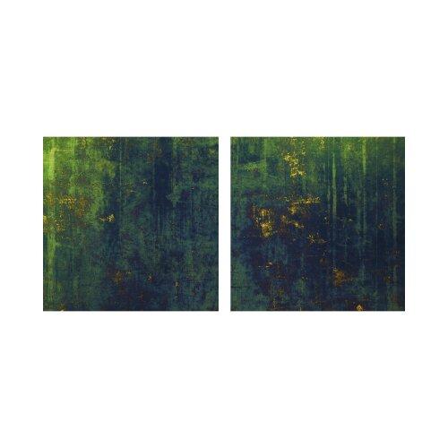 Hintergrund 50x50cm 2 Glasbilder Glasbild Echtglas Wandbild Deko