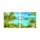 Zeichnung 50x50cm 2 Glasbilder Glasbild Echtglas Wandbild...