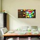 Ostereier 50x50cm 2 Glasbilder Glasbild Echtglas Wandbild Deko