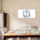Eis 50x50cm 2 Glasbilder Glasbild Echtglas Wandbild Deko